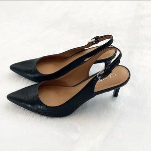 Like New Black Calvin Klein Giovanna Heels